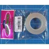 Bisagra plastico transparente 19mm x 10mm