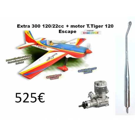 Extra 300 120/22cc + motor T.Tiger 120 + Escape