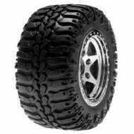 Rear Wheels & Tires Mounted, Chrome (Pr): Mini-DT