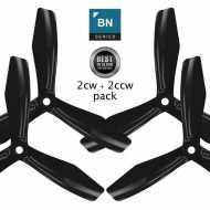 BN-3blade-FPV - 5x4.5 Prop Set x4 Negra