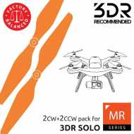 Helice Multirrotor 10x4,5 Prop Set x4 Naranja 3DR SOLO