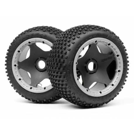 DIRT BUSTER BLOCK TIRE HD COMPOUND ON BLACK WHEEL