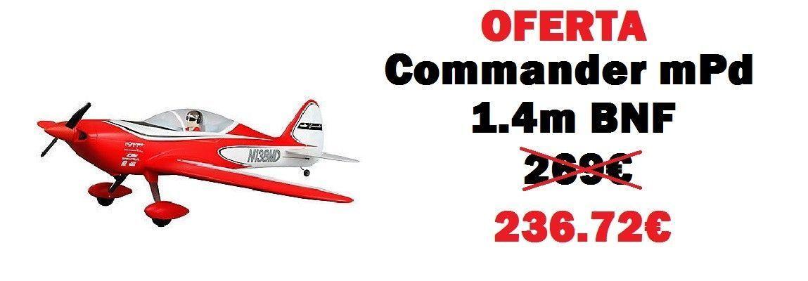 Avión Commander mPd 1.4m BNF Basic (EFL4850)
